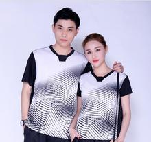 2017 men Badminton short sleeves shirts,polyester table tennis/tennis wear t-shirts,breathable women ping pong jersey Size M-4XL