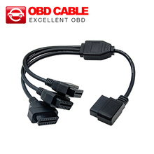50cm Converter Adapter OBD2 splitter Y Cable J1962M to 3-J1962F splitter OBD2 Cable 1 to 3 free shipping(China)
