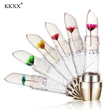 ORIGINAL KKXX FLOWER LIPSTICK Moisturizing Long Lasting Jelly Flower Lipstick  Lip Gloss Balm Makeup Cosmetic Tools