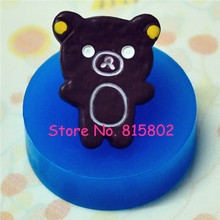 Free Shipping QYL126U Chocolate Bear Cookie Silicone Push Mold Kitsch Jewelry Charms Dollhouse Jewelry Bead Mold (Resin Paste)