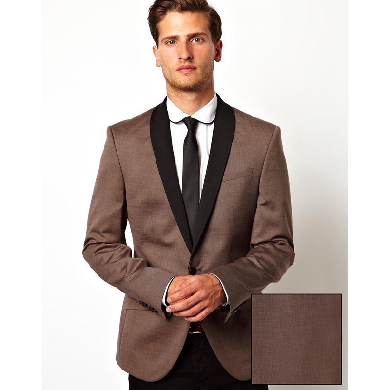 Custom wedding preparations Brown suit style man in this suit Custom suit jacket Suit slim 2 pieces dress (jacket + pants)