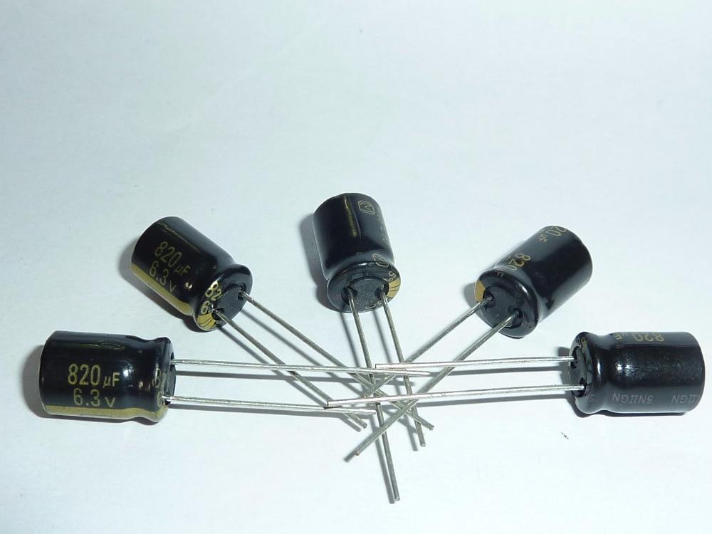 10pcs 1000uF 6.3V 10x12.5mm NCC LXZ 6.3V1000uF Super Low impedance Capacitor