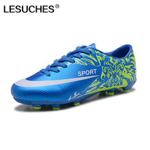 Men Football Boots Original Traning Football Boots Soccer Shoes Blue/Red Outdoor Trainers Sport Sneakers Shoe EU 39-44 RnA77(China)