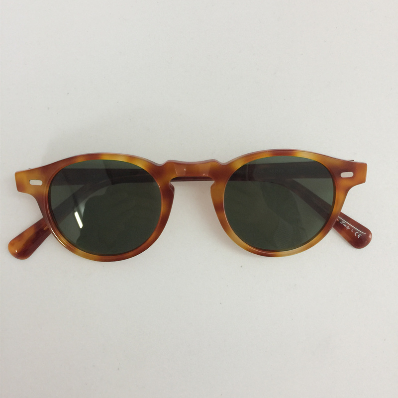 ov5186 Vintage Round Acetate Eyeglasses Polarized Sunglass Men Women Brand Designer Gafas De Sol Eyeglasses oculos de grau<br>