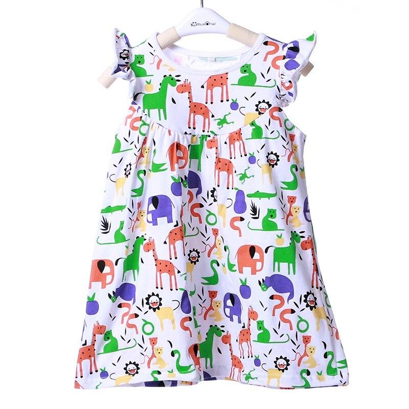 Платье с фламинго детское