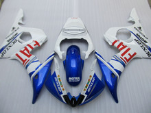 Injection mold Fairing kit for YAMAHA YZFR6 03 04 05 YZF R6 2003 2004 2005 YZF600 White Blue ABS Fairings set+7gifts YN12