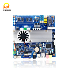 Pico itx RJ45 lan motherboard support LVDS,VGA,DVI,1080P HDMI for car pc Industrial  main board for taxi