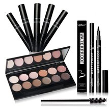 Eyeshadow Palette Long Curling Eyelashes Mascara Eyeliner Pencil Make Up Set Wholesale