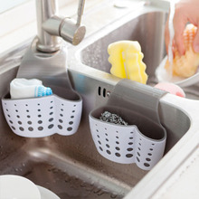Portable Basket Home Kitchen Hanging Drain Basket Bag Bath Storage Tools Sink Holder Kitchen Accessory Give A Gift To Family(China)