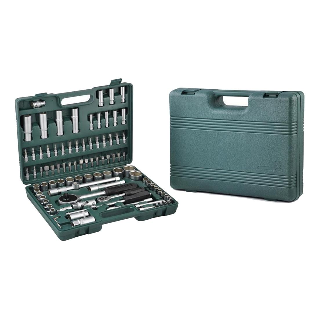 Promotion! 1/2 1/4 Socket and Bit Set Screwdriver Bit Tool Torx Ratchet Driver Kit+Glove (94 Pieces)<br>