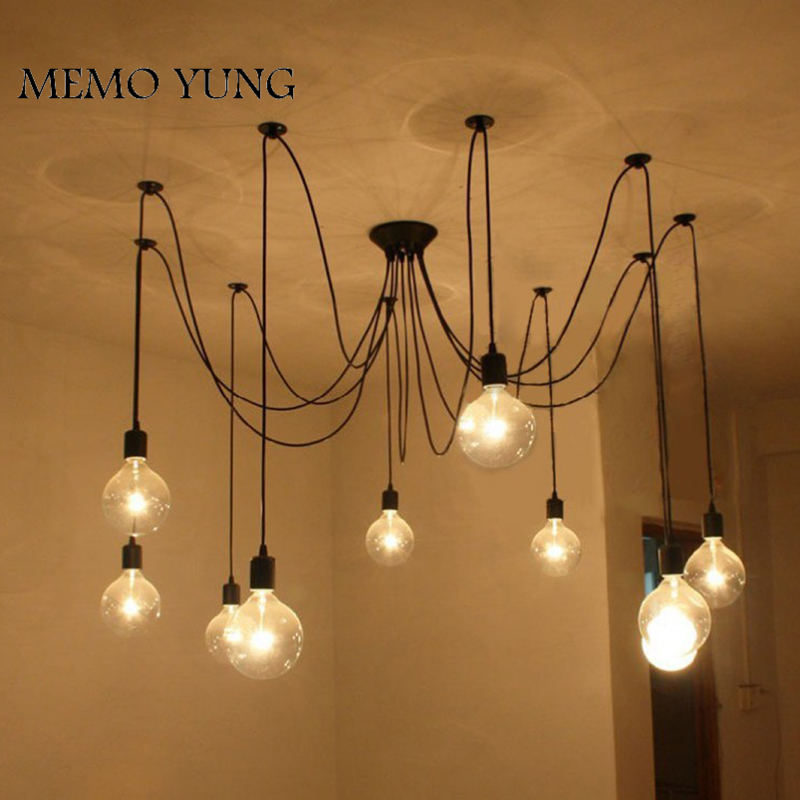 Retro Spider pendant lights Classic Decorative Loft lamp Edison Pendant Light hanging lights E27/E26 120V-240V for home decor<br>