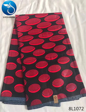 LIULANZHI red / black african wax fabric Hot sale african real wax fabric wholesale ankara wax prints fabric 8L1065-8L1077(China)