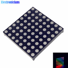 Full Color 8x8 8*8 Mini Dot Matrix LED Display Red Green Bule RGB Common Anode Digital Tube Screen For Diy 60mmx60mmx5mm(China)