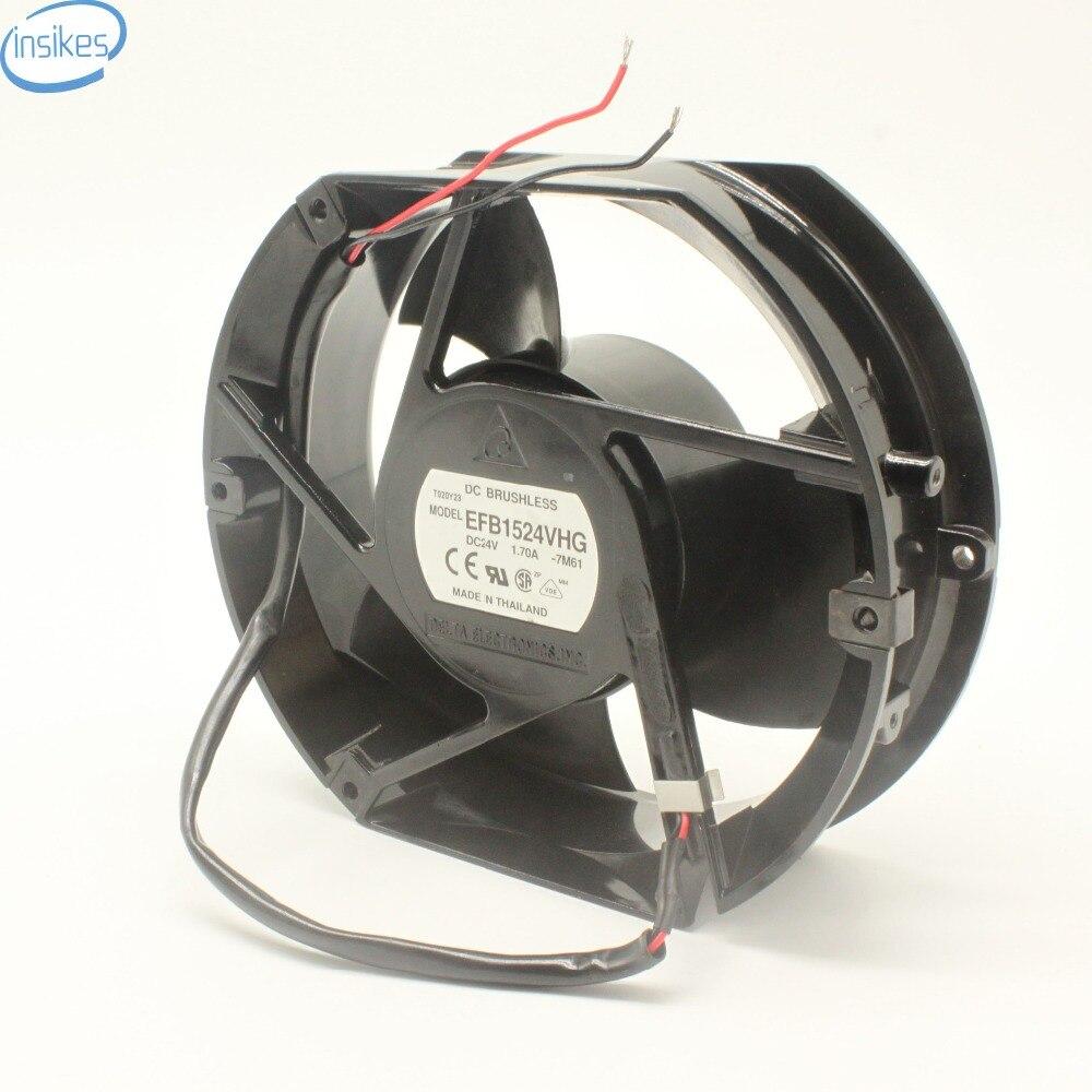 Original EFB1524VHG Blower Fan DC 24V 1.7A 172*150*51MM DC 24V Cooling Fan 1.70A 2 Wires Inverter Fan<br>