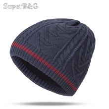 2017 Beanie Winter Hats Cap Men Women Stocking Hat Beanies stripe Knitted Hiphop Hat male Female Warm wool Cap Winter Unisex