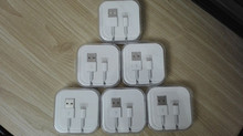 10Pcs / Lot, 1M 3.0mm USB Data Sync Charger Cable Lead For iPad 4 iPhone 5 5c 5s 6 6s 7 1:1 Original Cable Crystal box packing
