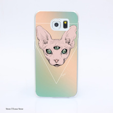 3110G Sphynx 8it Print Hard Transparent Case Cover for Galaxy S3 S4 S5 & Mini S6 S7 & edge