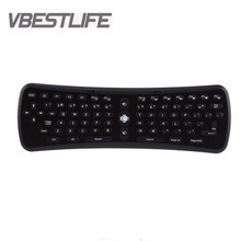 VBESTLIFE T6 2.4Ghz Wireless 6 Axis Gyroscope Air Mouse Keyboard Remote Control for PC Smart Android TV Box/OTG Phones Tablet PC(China)