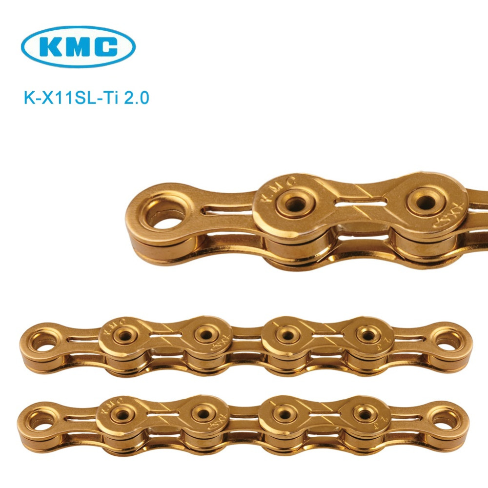 Missing Link X11SL KMC 11 Speed Chain Titanium Nitride Gold Coated 116 Links