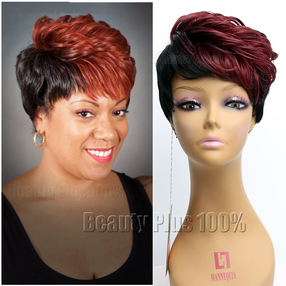 ombre synthetic wigs burgundy bob wigs cheap synthetic sexy female short haircut wigs best natural looking women wigs cosplay<br><br>Aliexpress