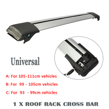 Partol 1x Car Roof Rack Cross Bar roof rails Car-styling Anti-theft Lock System Universal For Automibles Barras Porta Equipaje