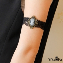 YiYaoFa DIY Gothic Jewelry Lace Arm Accessories Women Arm Bangles Handmade Summer Girl Party Jewelry AT-70