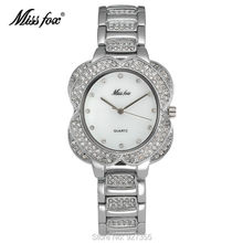 2017 New Fashion Women Gold Watches High Quality Luxury Wristwatch Lady Crystal Dress Watches Female Waterproof Quartz Watch(China)