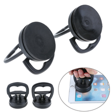 2Pcs Black ABS+Rubber Phone Repair Screen Glass Lift Vacuum Strong Suction Cup Window Mirror Door Home Shop Garage Repair Tools