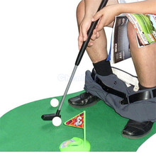 POTTY PUTTER Toilet Golf Game Mini Golf Set Putting Green Novelty Game Toys Leisure Fitness Sport Game For Men and Women
