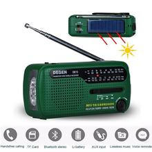 Emergency Outdoor Portable Radio Hand Crank Dynamo Solar FM/MW/SW Radio Flashlight Phone Charger