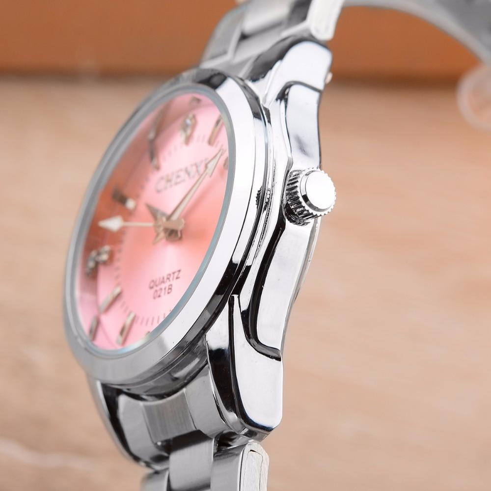 6 Fashion colors CHENXI CX021B Brand relogio Luxury Women's Casual watches waterproof watch women fashion Dress Rhinestone watch 17