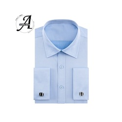 Мужская приталенная рубашка с длинным рукавом и двойной манжетой, 13XL 8XL 7XL