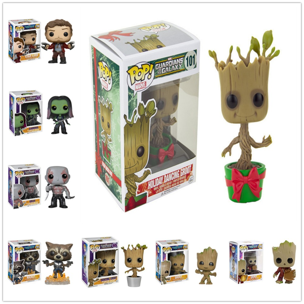 Funko POP Guardians of the Galaxy 2 Action Figure Model PVC Figuras Rocket Groot Action Figures toys Gifts