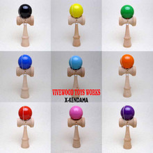 Glossy Kendama with PU Paint coating,Traditional Kendama,Standard 18CM,10 Colors Optional,Classic PU Kendama,Cheaper Kendama