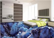Custom luxury wall paper 3d flooring Glacier snow 3d wallpaper living room vinyl flooring 3d wallpaper abstract 3d flooring