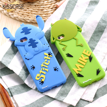 KISSCASE Cute 3D Lovely Cartoon Animal Stitch/Mike Phone Case For iPhone 7 6 6S Soft Silicon Back Cover For iPhone 7 6 6S Plus