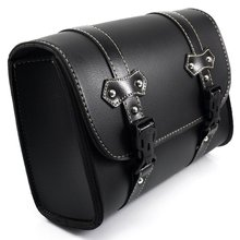 Black Motorcycle Saddle Bags PU Leather Motorbike Side Tool Pouch Tail Bag Luggage Borsello Moto Universal D20(China)