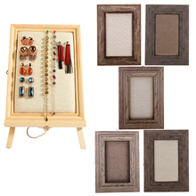 Vintage Wooden Shabby Chic Photo Frame  Bracelet Necklace Jewelry Wall Mount Display Organizers