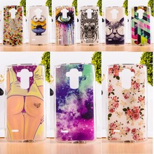 DIY Painted Soft TPU & Hard Plastic Phone Case For LG G4 Note LS770 G4 Stylus 4G Cell Phone Cover Anti-Knock Function Phone Bags