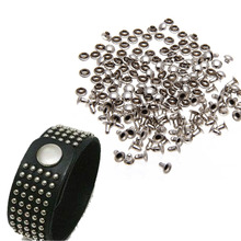 Great 100pcs Punk Spikes Studs Round Flat Rapid Mushroom Decorative Rivets DIY Set 6mm For Clothes Clothing Bag Shoes Leather