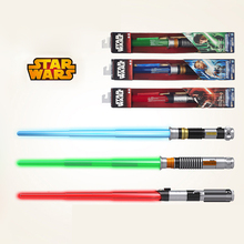 1pcs Real Brand Star Wars Combination Telescopic Lightsaber Led Flashing Light Sword Toys Cosplay Weapons Electric Toy Props(China)