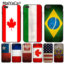 MaiYaCa Country America Canada Brazil Russia Flag Coque phone Case for Apple iPhone 8 7 6 6S Plus X 5 5S SE 5C Cover(China)