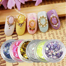 6 Bottles/Set Multi Powder Nail Glitter Holographic Nail Foil Women DIY Fingernail Cellphone Decoration Aeecssory Manicure WY433(China)