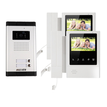 "New 4.3"" Video Intercom Apartment Door Phone System 2 Hand held Monitors 1 Door Camera for 2 Household In Stock FREE SHIPPING(China)"