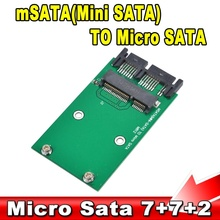 "New msata to Micro Sata SSD 1.8"" to 2.5"" SATA Converter Adapter Mini sata to M Sata SDD PCI-E to MSata"
