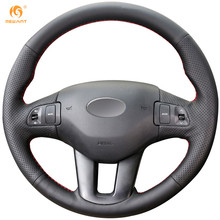 MEWANT Black Artificial Leather Car Steering Wheel Cover for Kia Sportage 3 2011-2014 Kia Ceed Cee'd 2010-2012(China)