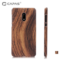 CAPAS Brand Cover for Nokia 6 Case Hard PC Wood Pattern Phone Case for Nokia 6 Bling Case Back Cover Shockproof 5.5 inch