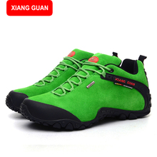 XIANG GUANG leather man boot Winter men boots ankle shoes warm snow velvet work martin cowboy motorcycle male shoe lace-up 81285