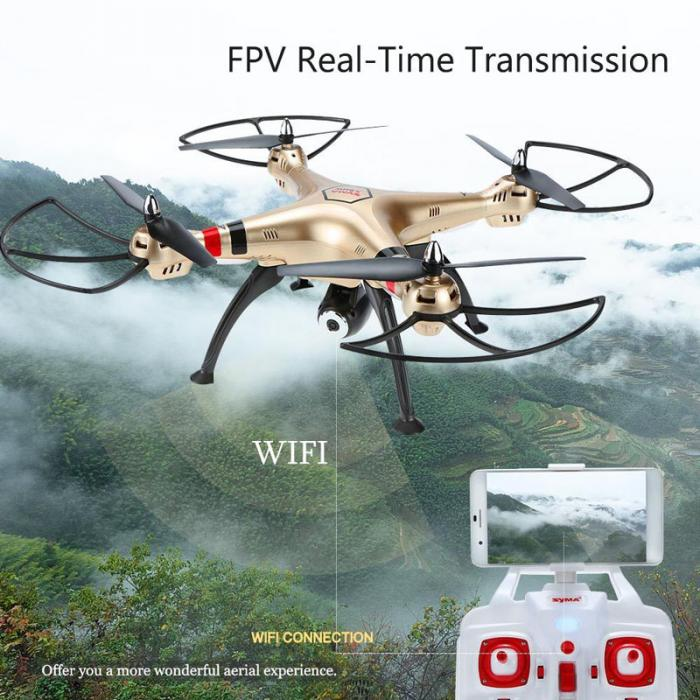 X8HW Wifi WIFI Real-time Images Transmission FPV 2.0MP HD Camera RC Quadcopter with Altitude Hold And Headless @ZJF