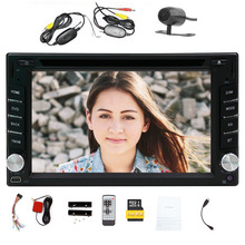 Hot Sale!!! Double DIN 6.2 inch GPS voice Navigation Free 8GB MAP Card HD:800*480 Touch Screen SD/USB Support FM Transmitter Sub(China)